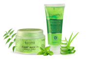 Sattvik Organics Aloe Forever Kit • Deep Cleanses & Rejuvenates for Smooth, Radiant Skin • Rehydrates Skin Cells • Cures & Protects Problem Skin • Maintains Moisture Balance