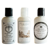 Kiss Me In The Garden Travel-Size Hand Creme Gift Set - Demoiselle, Sea Garden and Grateful Nature Scents