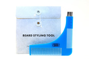 Beard Styling Tool and Shaping Template Comb by Viking Revolution - Perfect Lines and Edging - Use with Any Beard Trimmer or Razor