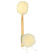 Loofah Back Scrubber by Vive - Long Handled Exfoliating Bath & Shower Body Brush Luffa Sponge w/ String for Hook - Men & Women - Vive Guarantee
