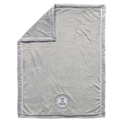 """CoCaLo Collection """"Love You Forever"""" Applique Minky Grey Blanket"""