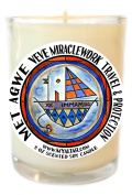 Met Agwe Veve Miracle Work Travel & Protection Magic 240ml Glass Candle