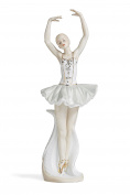 Ballerina Figurine Ballet Dancer Sculpture Dancing Lady Statue Porcelain Figure 36cm