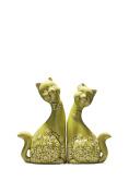 Cat Couple Figurine Set Two Cats in Love Ceramic Figures Animal Home Decor 28cm 25cm