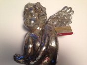 Antique Silver/greywash Light Weight Sitting Angel