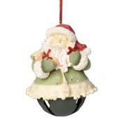 Enesco Heart of Christmas Santa Bell Ornament, 10cm