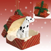 GREAT DANE Dog HARLEQUIN Uncrop n RED GIFT BOX Christmas Ornament New Resin RGBD100C by Eyedeal Figurines