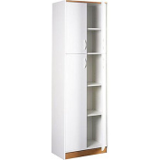 Kitchen Pantry Storage Cabinet White 4 Door Wood Organiser 5 Shelves Furniture