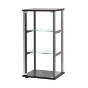 Contemporary Glass Curio Cabinet in Black Transitional