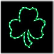 LED Lighted St. Patrick's Day Irish Shamrock Window Silhouette Decoration