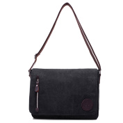 Young & Ming - Men Male Canvas Shoudler Bag Handbag Messenger Bag School bag with Mutil Pockets for iPad MacBook computer