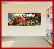 Toy Story Personalised Wall Art Vinyl Sticker Decal Childrens Bedroom (SS40041)