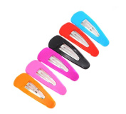 10 Pieces Assorted Candy Colour Hair Slides Snap Bendy Hair Clips Clip Clamp Hairpin Barrettes for Girls Hair Bows
