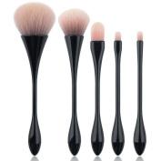 Coshine 5pcs/set Pro Mermaid Nylon Hair Makeup Brush Foundation Powder Cream Blush Brush Kits