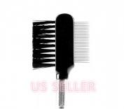 Steel Eyebrow Eyelash Dual-Comb Extension Brush Metal Comb Cosmetic Makeup Tool