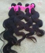 Taobaopit Mixed Length 41cm 46cm 50cm Loose Wave Brazilian Virgin Remy Human Hair Weave Weft 3 Bundles 300 Grammes Unprocessed Natural Colour Extensions 100% Brazilian Human Hair Extensions by PRISTINE HAIR