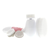 Spin for Perfect Skin - Skin Cleansing Face and Body Brush, Microdermabrasion Exfoliator System - Strawberry Ice