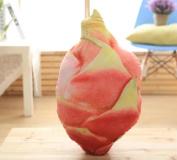 LY & HYL Creative simulation printed fruit dragon fruit pillow 3d 3d fruit plush toys sofa pillow 55cm