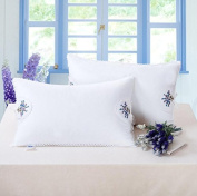 PZLL Lavender embroidered pillows, plush feather pillows