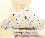 LY & HYL Small fresh space cotton soft leather pillow clouds light snowflakes water drops down plush cotton plush toys holiday gifts , 3
