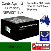 """Cards Against Humanity Expansions Green Box 300 Cards NEW RELEASE  .  """"Genuine ✓Australian Business ✓ FREE POSTAGE"""