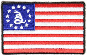 GADSDEN AMERICAN FLAG PATCH - Colour - Veteran Owned Business.