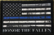 Thin Blue Line Honour The Fallen Morale Patch. Perfect for your Tactical Military Army Gear, Backpack, Operator Baseball Cap, Plate Carrier or Vest. 5.1cm x 7.6cm Hook Patch. Made in the USA