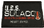 Aliens Movie USS Sulaco Morale Patch. Perfect for your Tactical Military Army Gear, Backpack, Operator Baseball Cap, Plate Carrier or Vest. 5.1cm x 7.6cm Hook Patch. Made in the USA