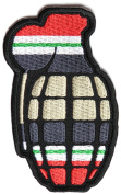 OPERATION IRAQI FREEDOM OIF RIBBON INSIDE GRENADE PATCH - Colour - Veteran Owned Business.