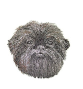 Amazing Dog Faces[Affenpinscher] Embroidery Iron On/Sew patch [10cm x 9.6cm ][Made in USA]