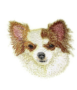 Amazing Dog Faces[Chihuahua] Embroidery Iron On/Sew patch [10cm x 9.2cm ][Made in USA]