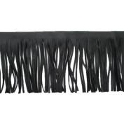 3 Yards 10cm - 1.9cm Wide Brazil Leather Fringe Trims Tassel Trims Double Side for Garment Bag Sewing Craft Supply