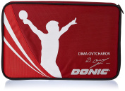 Donic-Schildkröt Case Ovtcharov Plus Padded, incl. Ball Compartment Square 818539 Table Tennis Cover, Red/Orange, M
