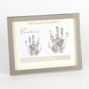 Me and My Brother Hand print 18cm x 13cm Photo Frame Baby Gift