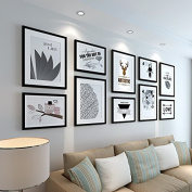 The living room is decorated bedroom staircase simple continental creative frame wall B