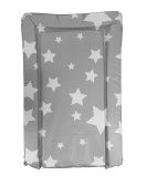 Deluxe PVC Baby Changing Mat - DARK GREY WITH WHITE STARS DESIGN