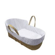 Simplicity Dimple High Top Palm Moses Basket, White