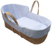 Simplicity Dimple High Top Palm Moses Basket, Blue