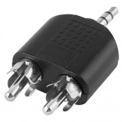 Audio Adapters, 2x RCA Male to 3.5mm Male Jack Audio Y Adapter