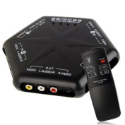 Audio Adapters, 4-group Input and 1-group Output Audio and Video Signal Converter with Remote