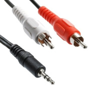 Audio Adapters, Good Quality Jack 3.5mm Stereo to RCA Male Audio Cable, Length
