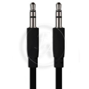BLACK 3.5mm Stereo Jack To Jack Audio Headphone Aux Cable Sound Lead Wire Cord