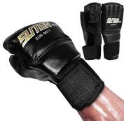 Kagogo Half Finger MMA Muay Thai Training Punching Bag Half Mitts Sparring Boxing Gym Taekwondo Gloves For Men Women