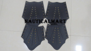 mediaeval BLACK LEATHER LEG AND ARM GUARD - armour COSTUME BY NAUTICALMART
