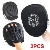 Yaheetech PU Leather MMA Boxing Mitt Punching Mitt Target Focus Punch Pad Training Glove