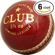 CW Cricket Leather Ball Club (In Pack Of Six) Red