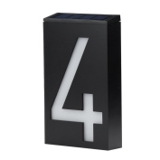 Alonea Solar Power LED Light Sign House Hotel Door Address Plaque Number Digits Plate