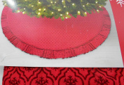 Jaclyn Smith Christmas Tidings Red Snowflakes Tree Skirt