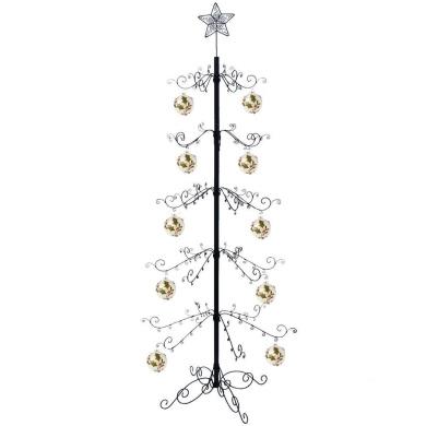 HOHIYA Artificial Christmas Tree Metal Ornament Stand 7 to 2.4m(Black)