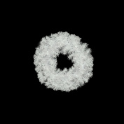 50cm White Crystal Spruce Artificial Christmas Wreath - Unlit
